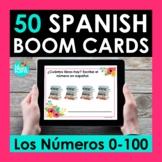 Spanish Numbers 0-100 BOOM CARDS   Digital Task Cards