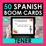 TENER Spanish BOOM CARDS | Digital Task Cards | Distance Learning