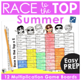 Math Games | Multiplication Race to the Top | Summer Themed