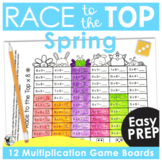 Spring Math Games | Multiplication Race to the Top