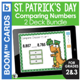 St. Patrick's Day Boom Cards | Math | Comparing Numbers