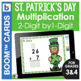 St. Patrick's Day Boom Cards | Math | Multiply 2 Digit by