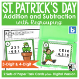 1/2 PRICE 48 HOURS St. Patrick's Day Task Cards | Add and