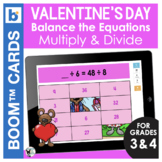 Valentine's Day Boom Cards | Math Balance the Equations