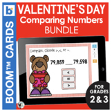 Valentine's Day Boom Cards | Math | Comparing Numbers