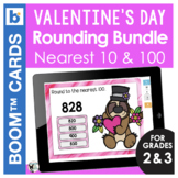 Valentine's Day Boom Cards Math | Rounding