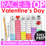 Valentine's Day Math Games | Division Race to the Top