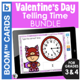 Valentines Day Boom Cards | Telling Time Bundle