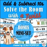 Adding & Subtracting 10's - Solve the Room with a TWIST
