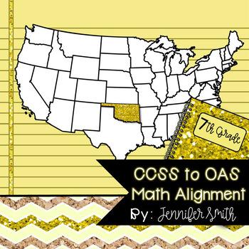 FREEBIE Seventh Grade Oklahoma Academic Standards Math Alignment