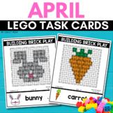 BUILDING BRICK LEGO EASTER Task Cards for APRIL