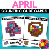 COUNTING CUBE EASTER Task Cards for APRIL