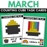 COUNTING CUBE ST. PATRICK'S DAY Task Cards for MARCH