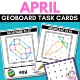 EASTER Geoboard Task Cards STEM for APRIL