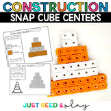CONSTRUCTION THEMED Snap Cube Math Centers