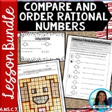 Compare and Order Rational Numbers Lesson Bundle 6.NS.C.7