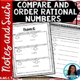 Compare and Order Rational Numbers Notes and Such 6.NS.C.7