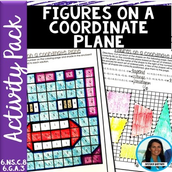1/2 PRICE FOR 24 HRS Figures on a Coordinate Plane Activity Pack