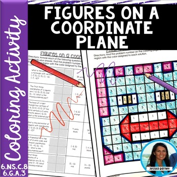 Figures on a Coordinate Plane Coloring Page