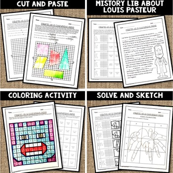 1/2 PRICE FOR 24 HRS Figures on a Coordinate Plane Lesson Bundle