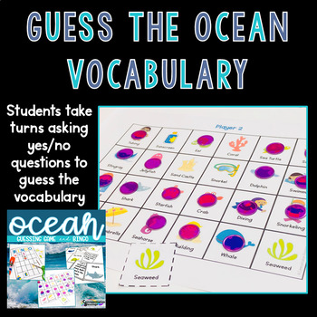 Ocean Beach Themed Games for Vocabulary and Inferences