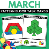 PATTERN BLOCK ST. PATRICK'S DAY Task Cards for MARCH