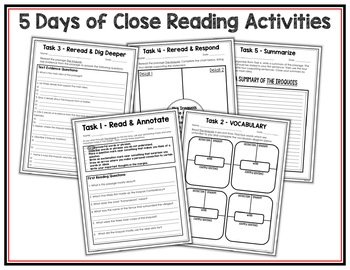 Iroquois Reading Passage and Activities