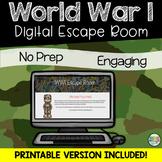 World War 1 Escape Room (SS5H2, SS5H2a)