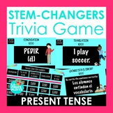 Present Stem changing Verbs Trivia Game   Jeopardy-style S