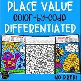 Place Value Worksheets - Color by Number - 1st Grade & 2nd Grade