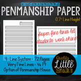 1.2 Penmanship/ Handwriting Practice, Lined Story Writing Paper Templates