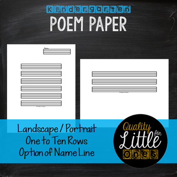 0.7 Handwriting / Penmanship Practice, Lined Story / Poem Writing Paper