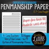 0.7 Handwriting / Penmanship Practice, Lined Story / Poem