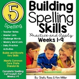 5th Grade Spelling and Vocabulary Program - Weeks 1-9