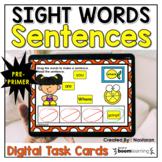 Boom Cards Sight Words Sentences Pre Primer Digital Practice