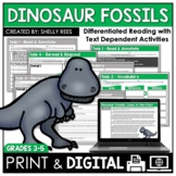 Dinosaur Fossils Reading Passage and Comprehension Worksheets