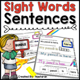 Sight Words Sentences Reading and Writing - Building Sentences