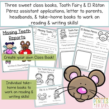 The Tooth Fairy & El Raton Pérez Unit Study - STEM, ELA, Math, Crafts, & More!
