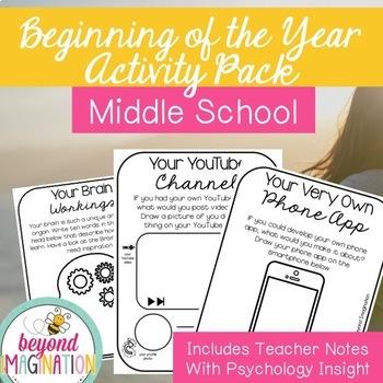Back to School Activities Middle School