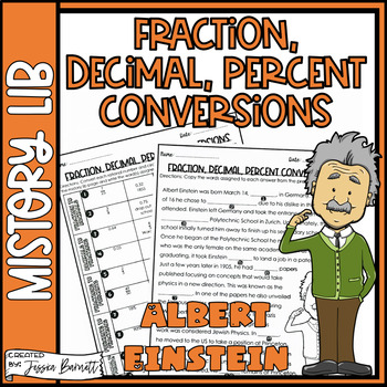 Fraction, Decimal, and Percent Conversions Activity | Mistory Lib