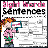 Sight Words Sentences For Kindergarten