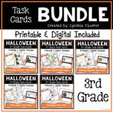 Halloween Math Task Cards Bundle Printable and Digital for 3rd Grade