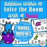 Addition Within 10 - 1st Grade - Solve the Room with a TWIST