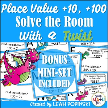 Place Value - Add 10 or 100 More  - Solve the Room with a Twist