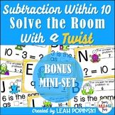 Subtraction Within 10 - 1st Grade - Solve the Room with a TWIST