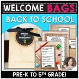 Welcome Bag | Open House Activities | Back to School Treat Tags