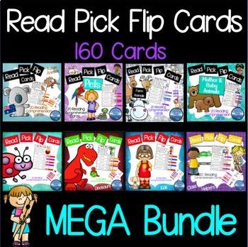 Reading Comprehension Passages: MEGA Bundle Reading Clip Cards