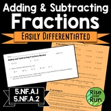 Adding and Subtracting Fractions with Unequal Denominators