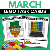 BUILDING BRICK LEGO ST. PATRICK'S DAY Task Cards for MARCH