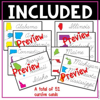 Cursive Handwriting Practice | The 50 States